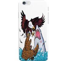 Nature Vs Nature - Bear VS Eagle Vs Shark Threesome iPhone Case/Skin