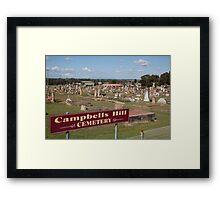 Historic Campbells Hill Cemetery, Maitland, Australia Framed Print