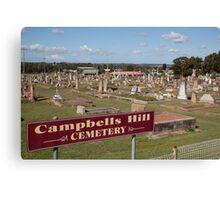 Historic Campbells Hill Cemetery, Maitland, Australia Canvas Print