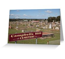Historic Campbells Hill Cemetery, Maitland, Australia Greeting Card