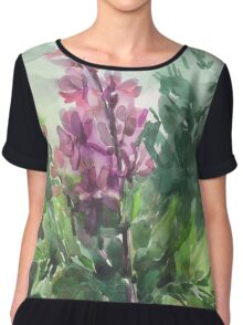 watercolor flowers Chiffon Top