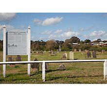 Historic Oakhampton Cemetery, Maitland Australia Photographic Print