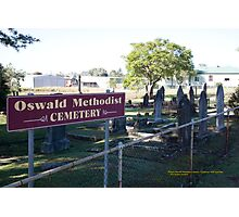 Historic Oswald Cemetery, Lochinvar NSW Australia Photographic Print