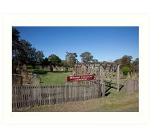 Historic Hiland Crescent Cemetery, East Maitland Australia Art Print