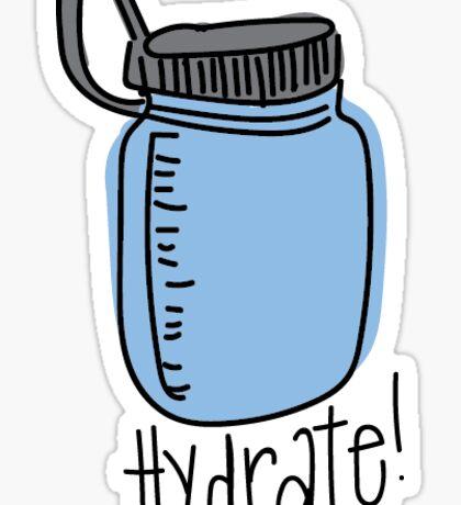 Hydrate Water Bottle Sticker