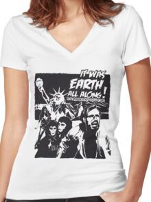 Planet of the Apes  Women's Fitted V-Neck T-Shirt