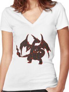 LavaZard Women's Fitted V-Neck T-Shirt