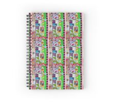Lady Skeleton's Colorful Collage Spiral Notebook