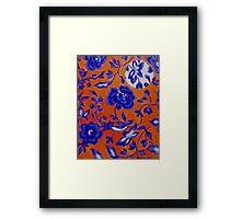 Blue and Orange Pattern Framed Print