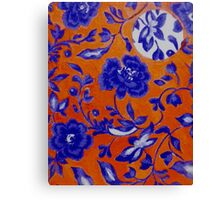 Blue and Orange Pattern Canvas Print