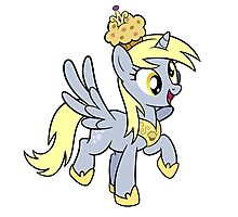 Derpy the Muffin Queen Tshirt Photographic Print