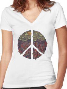 Peaceful Landscape Women's Fitted V-Neck T-Shirt