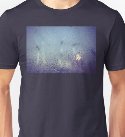 Water Drops on Glass Unisex T-Shirt