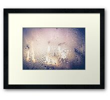Water Drops on Glass 2 Framed Print