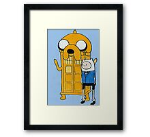 Doctor Who/Adventure Time Framed Print