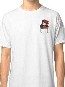 Anime chibi girl in pocket Classic T-Shirt