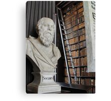 Socrates in the Long Room Canvas Print