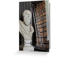 Socrates in the Long Room Greeting Card