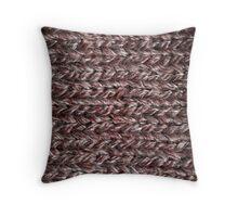 Brown Knitting Throw Pillow