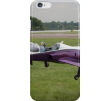 Model aircraft being carried after a display at the Festival of Flight in Biggin Hill iPhone Case/Skin