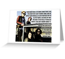 Gerard Way Quote #7 Greeting Card