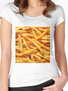 Fries Women's Fitted Scoop T-Shirt