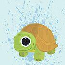 Turtle - Blue Splash by Adamzworld