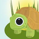Turtle - In grass by Adamzworld