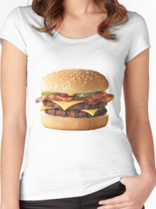 Cheeseburger  Women's Fitted Scoop T-Shirt