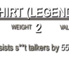 Elder Scrolls Legendary T-Shirt Sticker