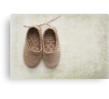 Woven Childrens Slipers  Canvas Print
