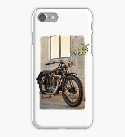 1927 Vintage A-J-S Motorcycle  iPhone Case/Skin