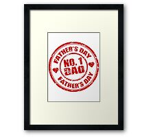 No 1 Dad - Father's Day Framed Print