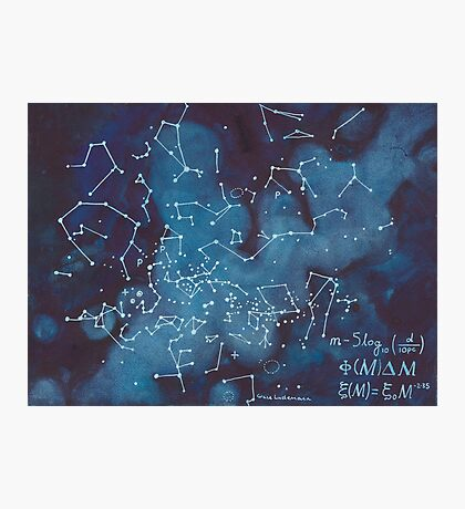 Astronomer's Constellation Star Map Photographic Print