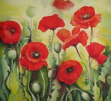 Poppies flowers by Elena Oleniuc