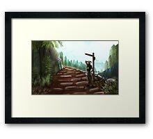 Two Roads Framed Print