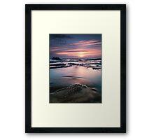 Norah rocks sunrise Framed Print