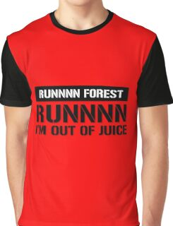 Run  Forest Funny Vape  Graphic T-Shirt