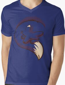 The fox is sleeping Mens V-Neck T-Shirt