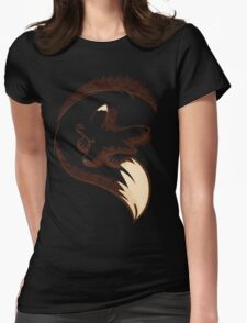 The fox is sleeping Womens Fitted T-Shirt