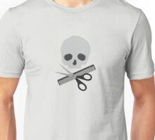 Barber skull Unisex T-Shirt