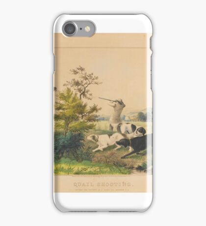 N. Currier, Publisher QUAIL SHOOTING, SETTERS THE PROPERTY OF S. PALMER, ESQ., BROOKLYN, L.I. (GALE ) iPhone Case/Skin