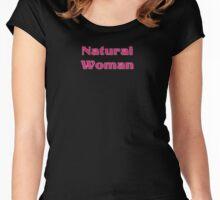 Natural Woman T-Shirt - Sticker Women's Fitted Scoop T-Shirt