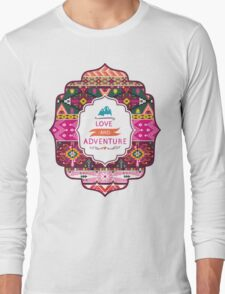 Native american seamless tribal pattern with geometric elements Long Sleeve T-Shirt