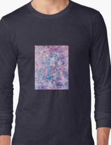 Red White and Blue Painting Long Sleeve T-Shirt