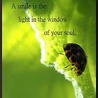 A smile is the light in the window of your soul. by Esther's Art and Photography