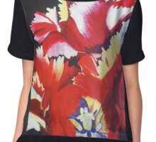 Parrot Carnival Chiffon Top
