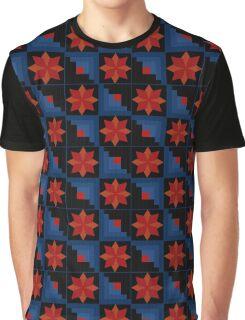 Bright abstract pattern geometric black Graphic T-Shirt