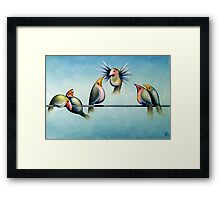 Finches On Parade - Excerpt Two Framed Print