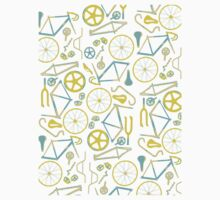 Bicycle Assembly Pattern (blu) Kids Clothes